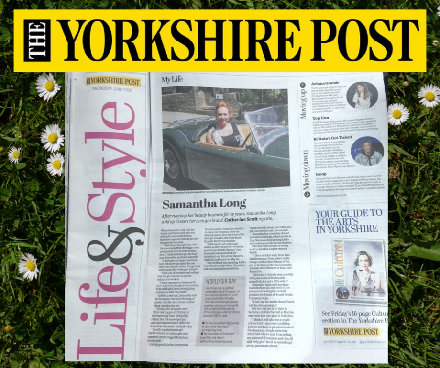 The Yorkshire Lass' Gin story featured in the The Yorkshire Post!