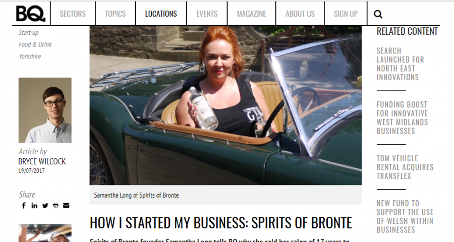 Yorkshire Lass' feature in BQ Magazine
